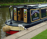 Traditional stern of a narrowboat